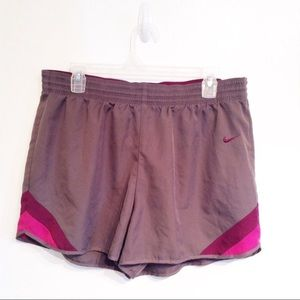 NIKE Dri-Fit Grey Taupe Workout Shorts